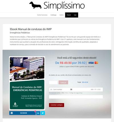 Página de vendas para ebooks